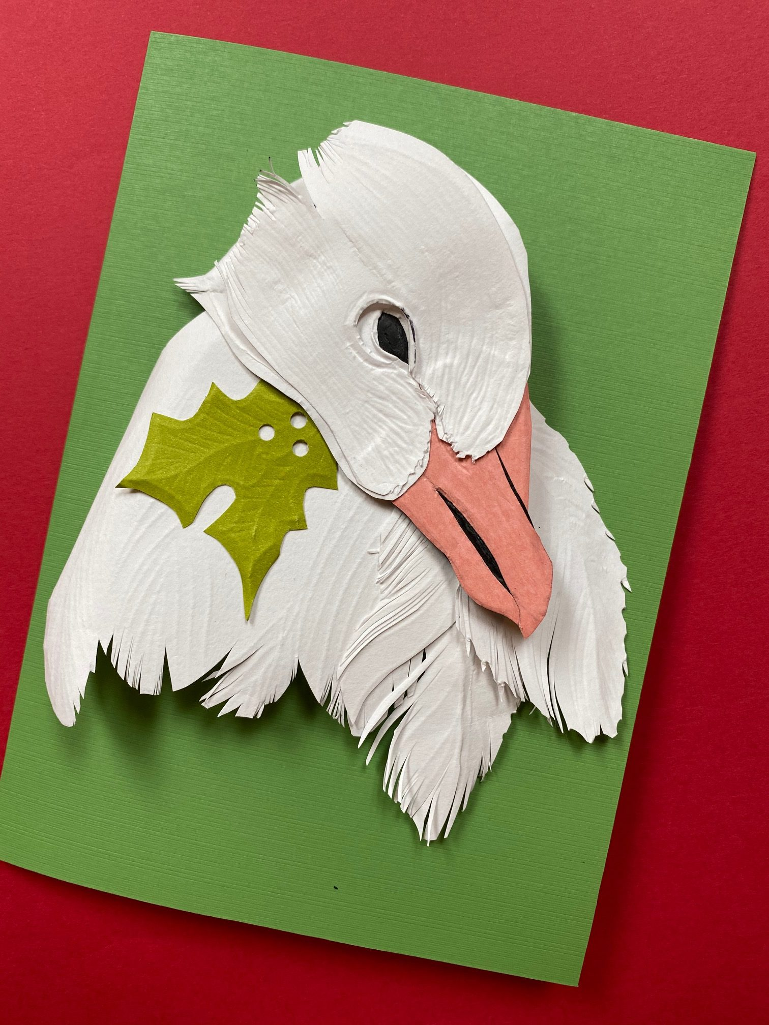 snow goose holiday card