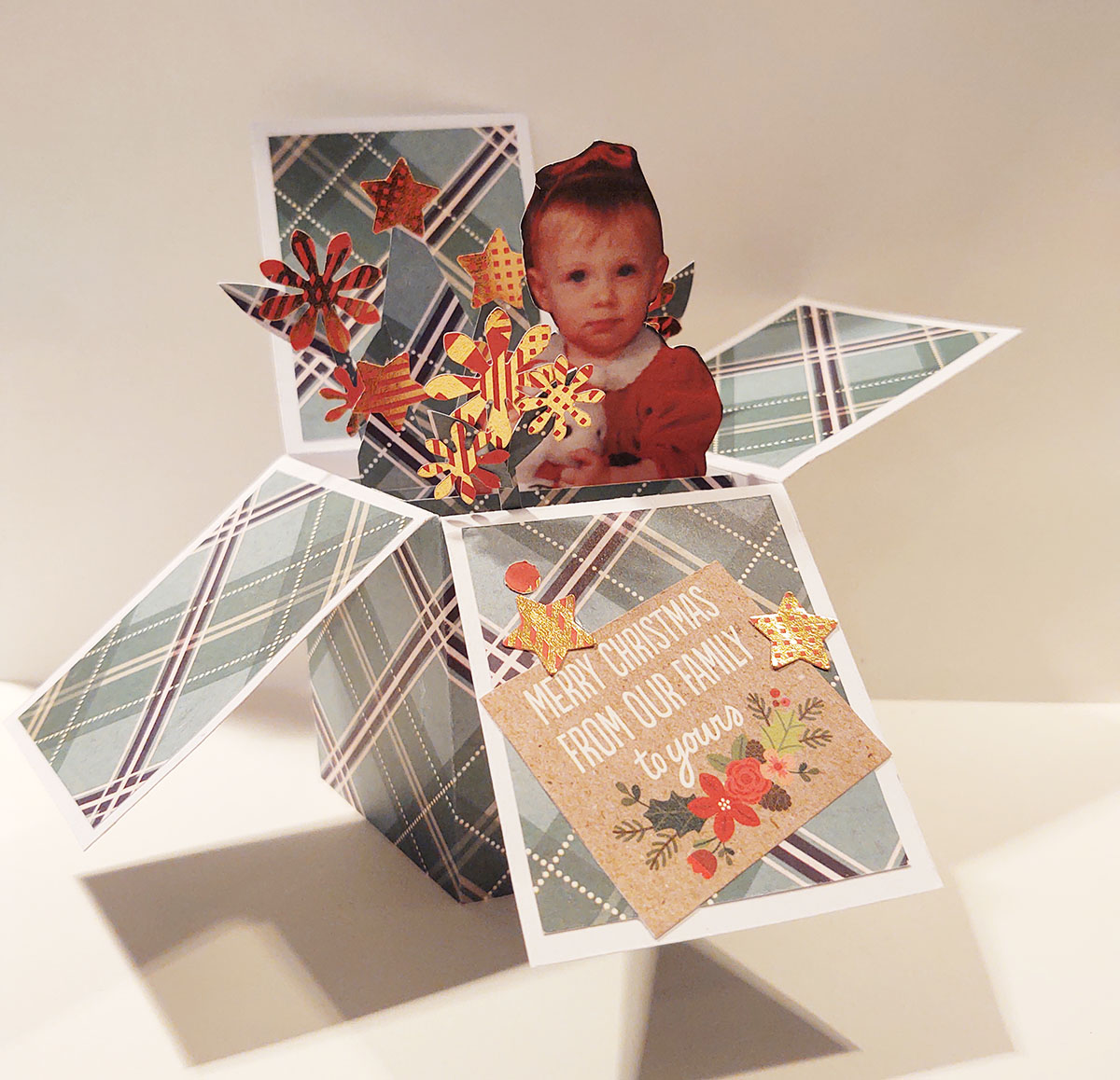 family photo pop-up card