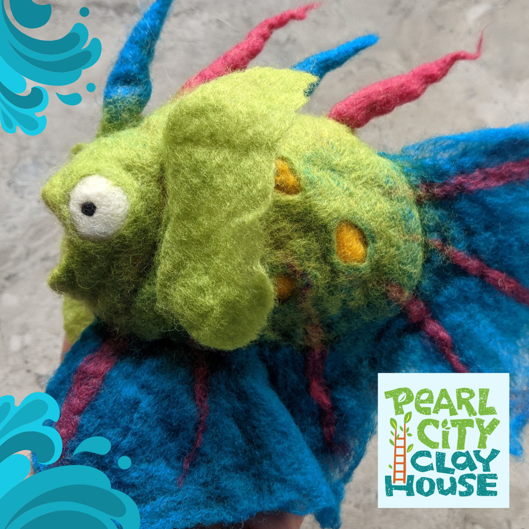 funky felted fish
